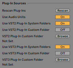 Mac Ableton Plug-Ins Sources Settings