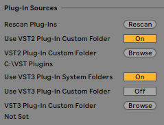 Windows Ableton Plug-Ins Sources Settings