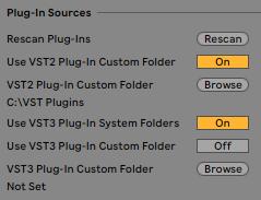 Windows Ableton Plug-Ins Sources Settings